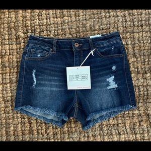 Wax Jean Shorts